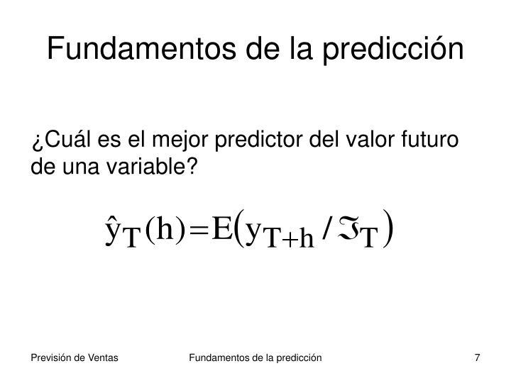 Fundamentos de la predicción