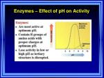 enzymes effect of ph on activity