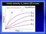 initial velocity v 0 when p is low
