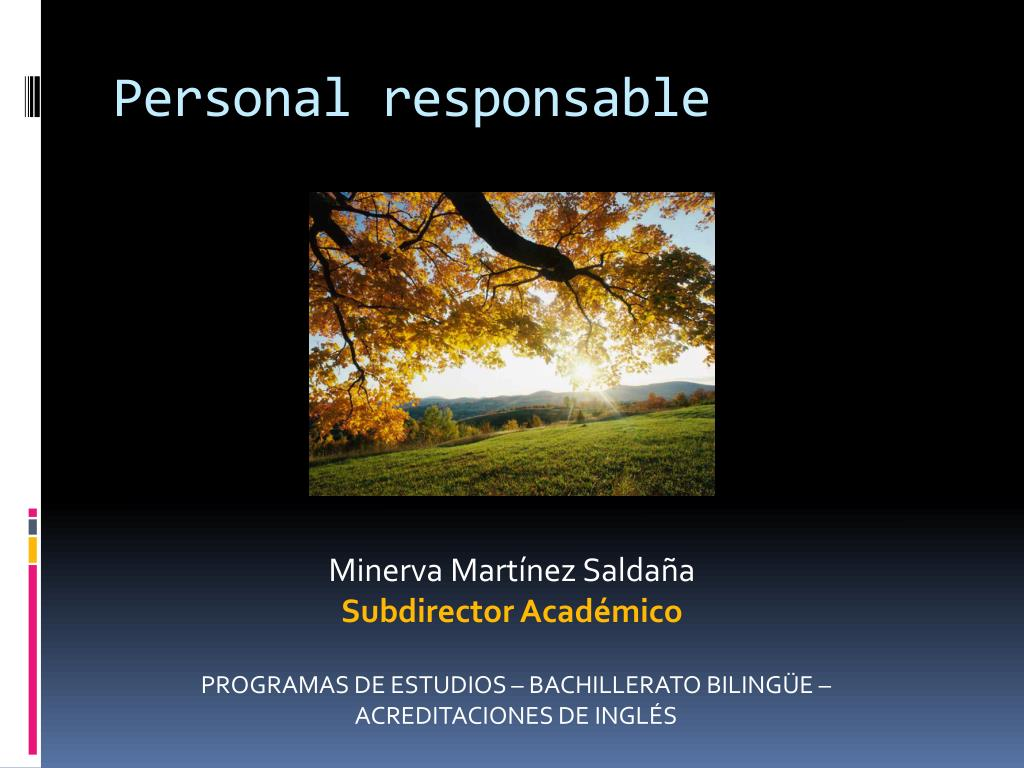Personal responsable
