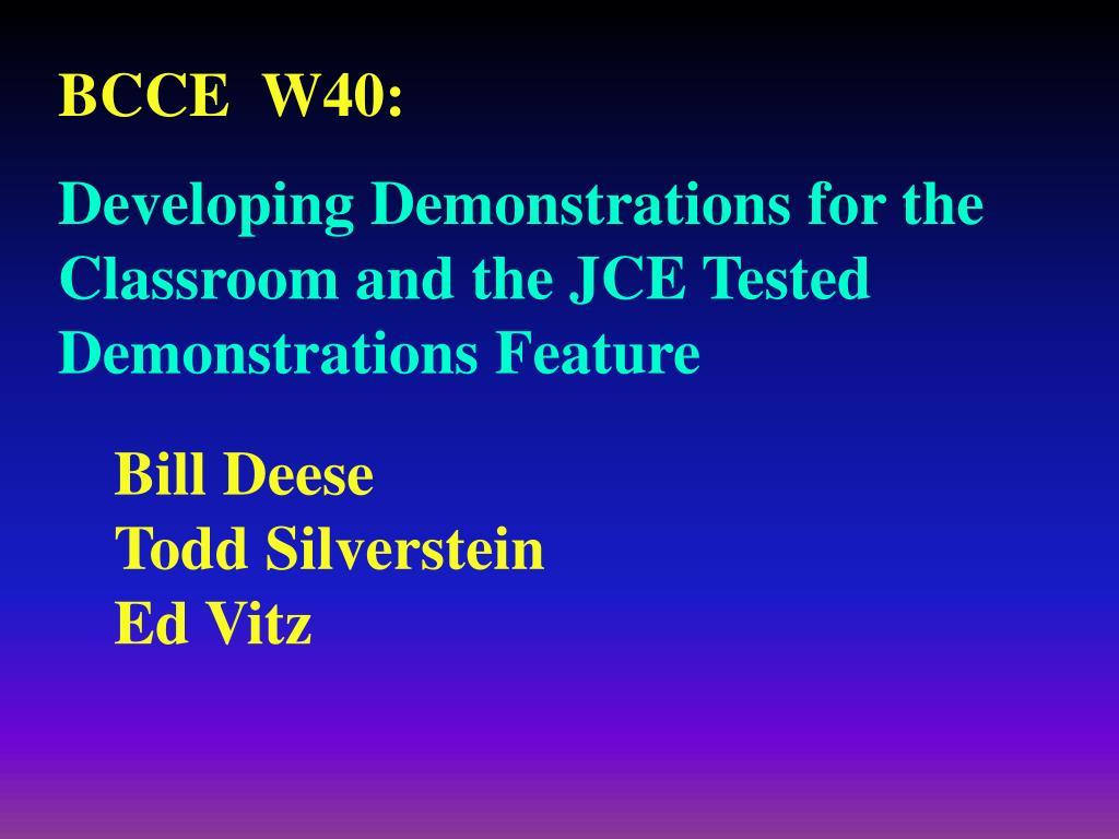 BCCE  W40: