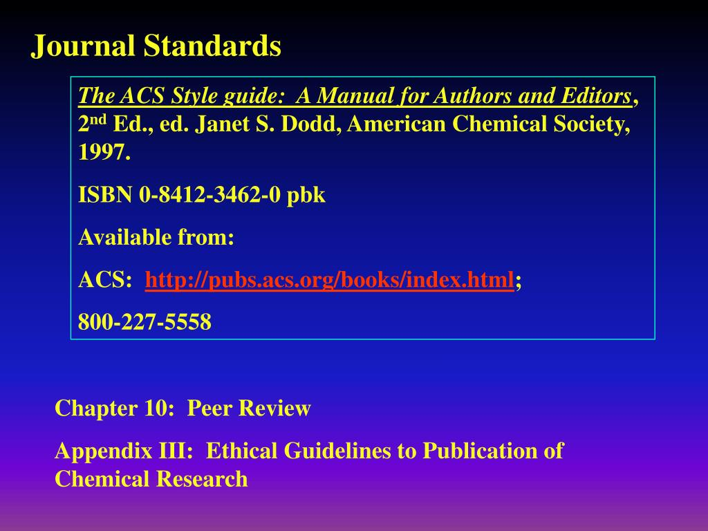 Journal Standards