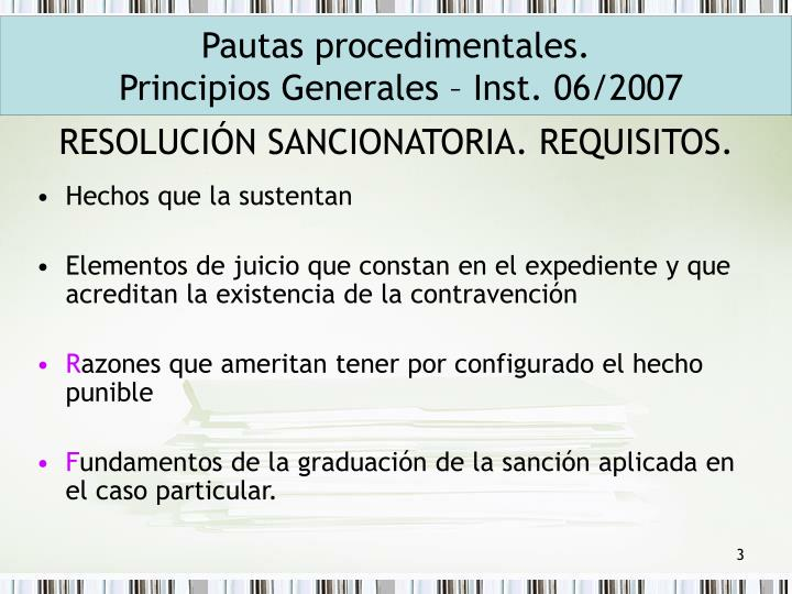 Resoluci n sancionatoria requisitos