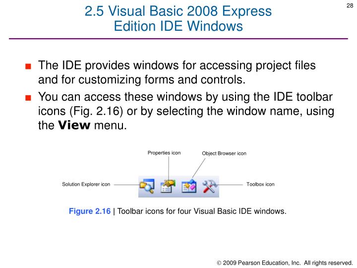 2.5 Visual Basic 2008 Express