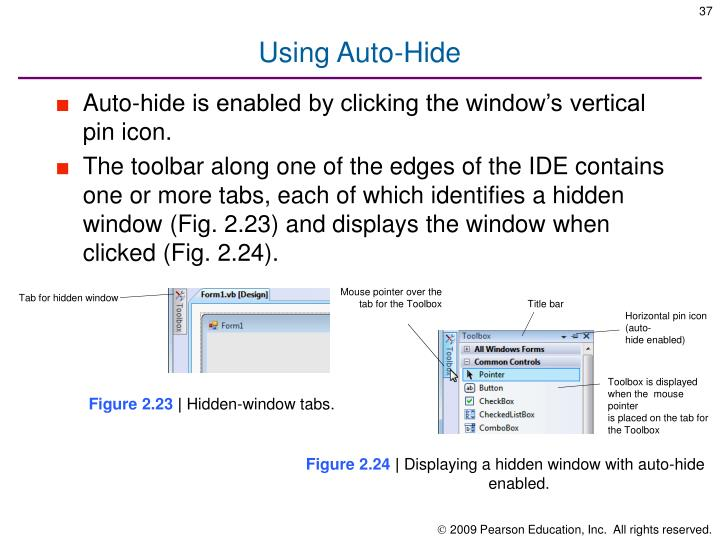 Using Auto-Hide