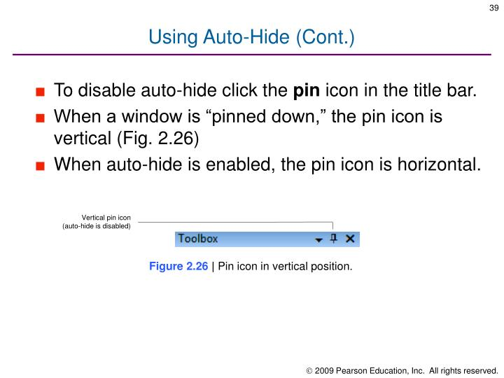 Using Auto-Hide (Cont.)