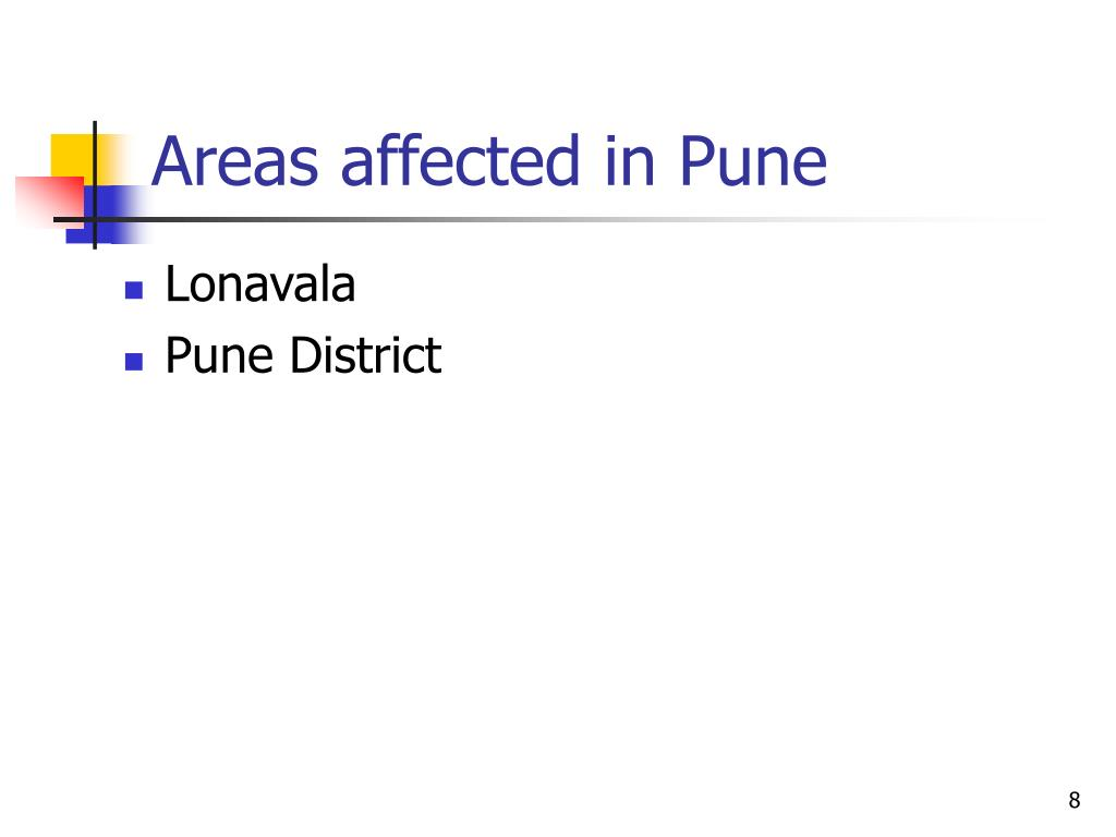 Areas affected in Pune