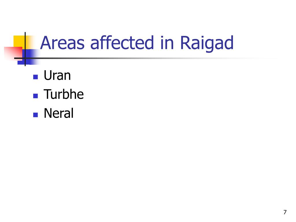 Areas affected in Raigad