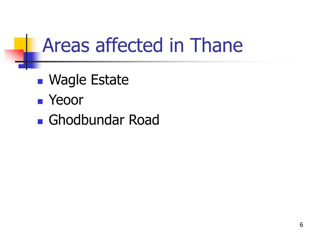 Areas affected in Thane
