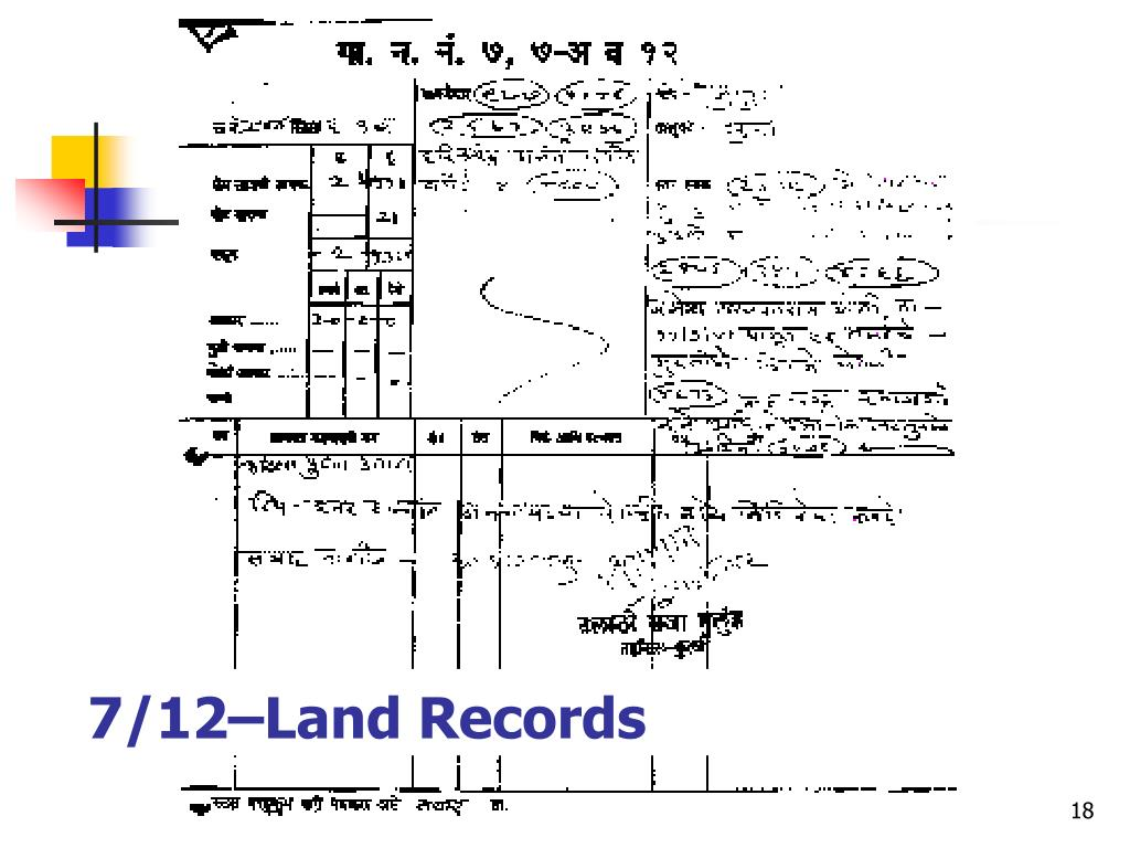 7/12–Land Records