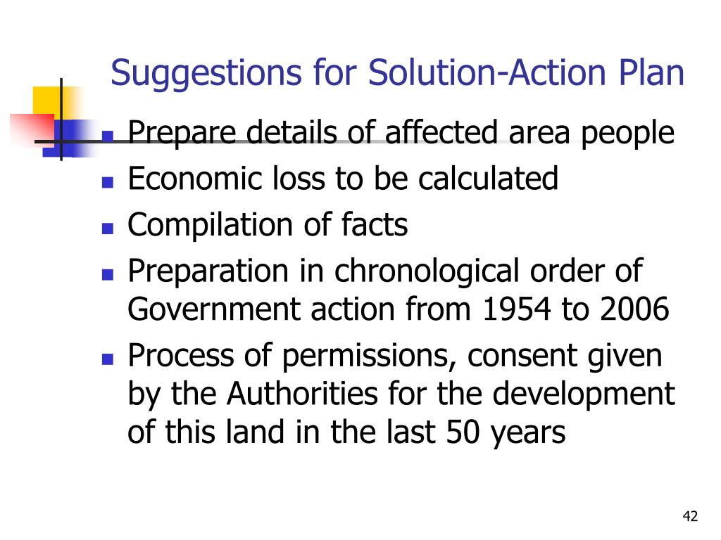 Suggestions for Solution-Action Plan