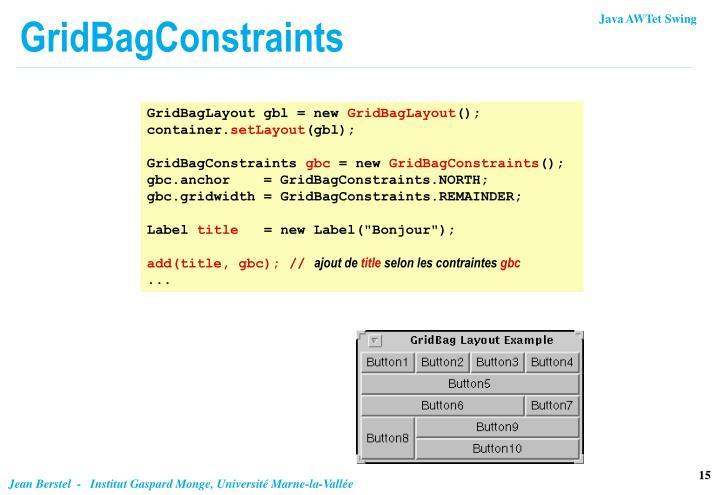 GridBagConstraints