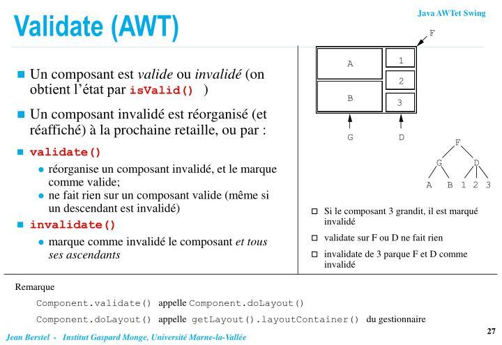 Validate (AWT)