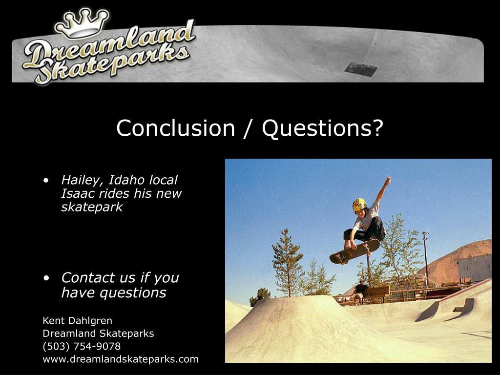 Conclusion / Questions?