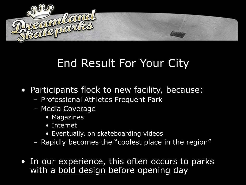 End Result For Your City