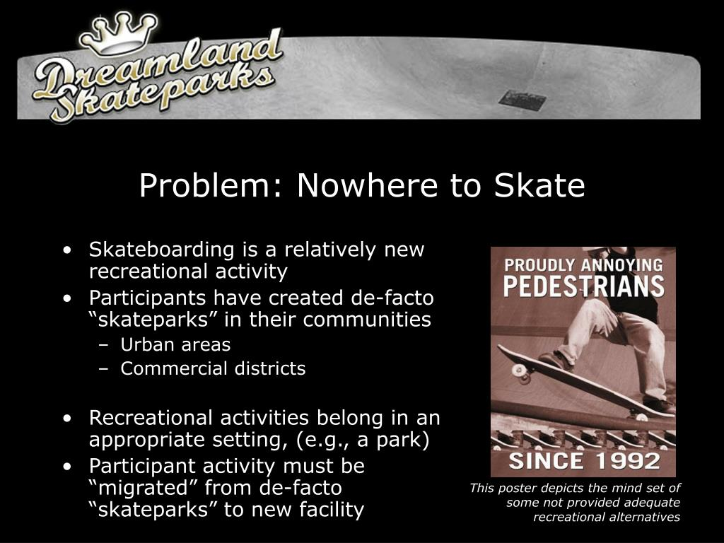 Problem: Nowhere to Skate