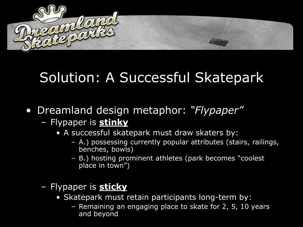 Solution: A Successful Skatepark