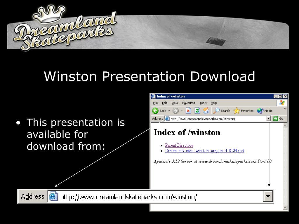 Winston Presentation Download
