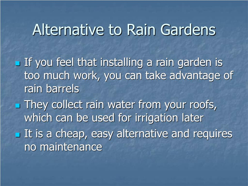 Alternative to Rain Gardens