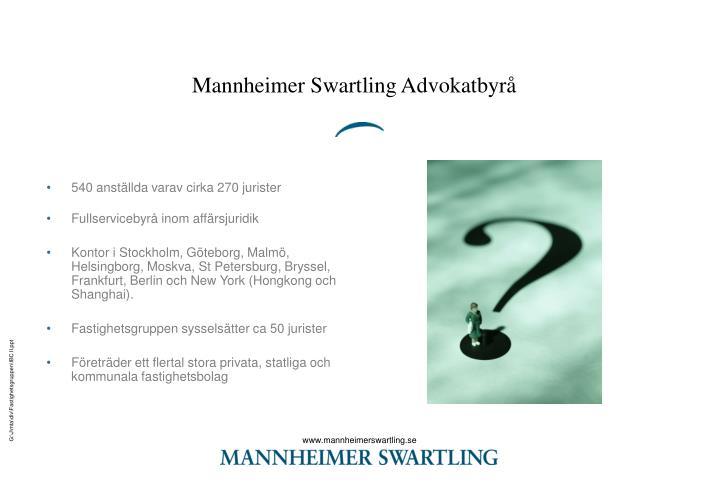 Mannheimer Swartling Advokatbyrå