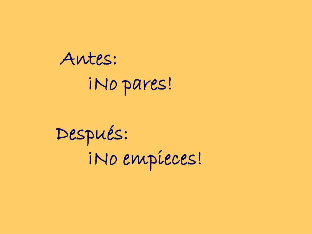 Antes: