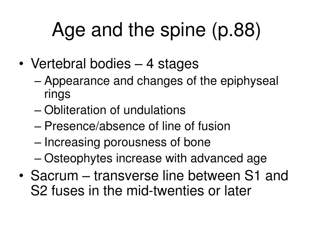 Age and the spine (p.88)