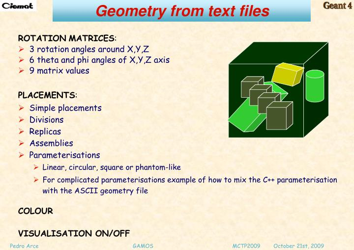 Geometry from text files
