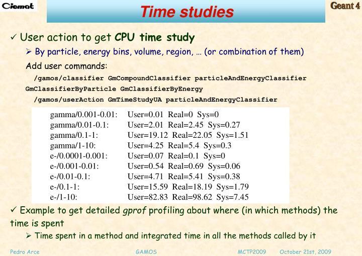 Time studies