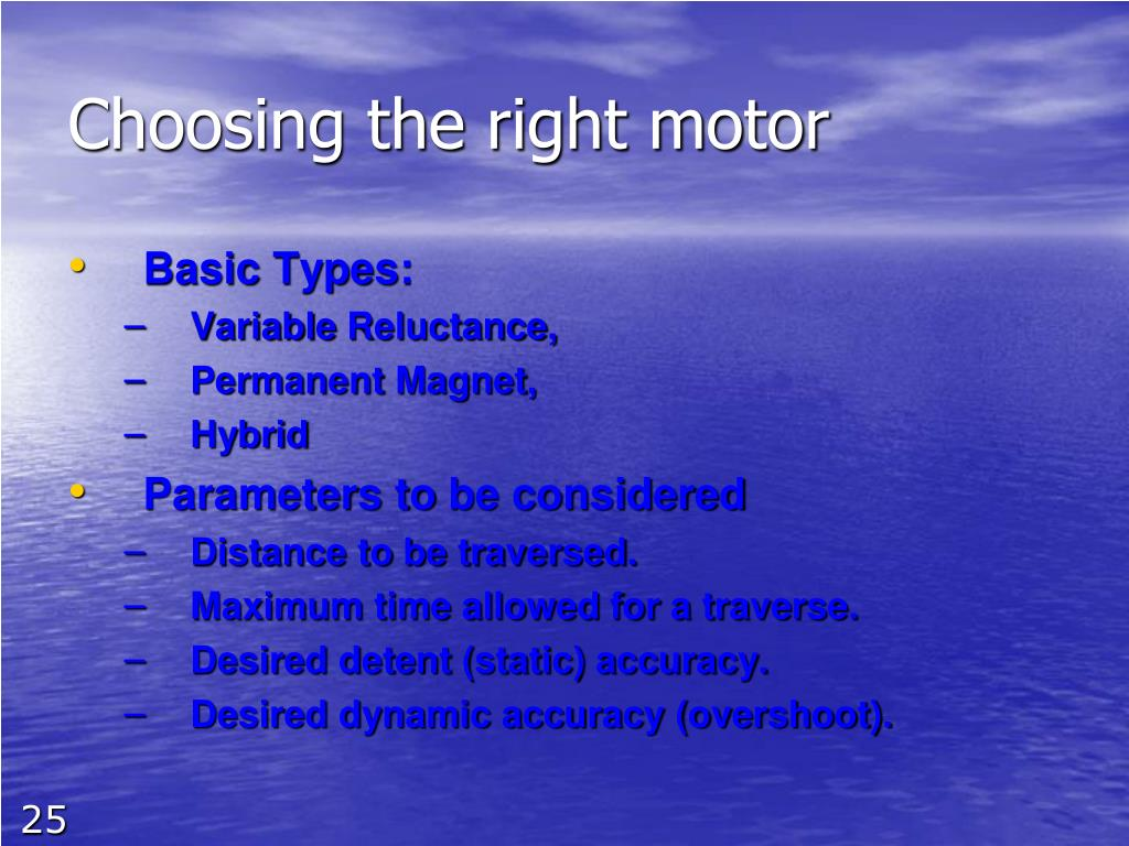 Choosing the right motor