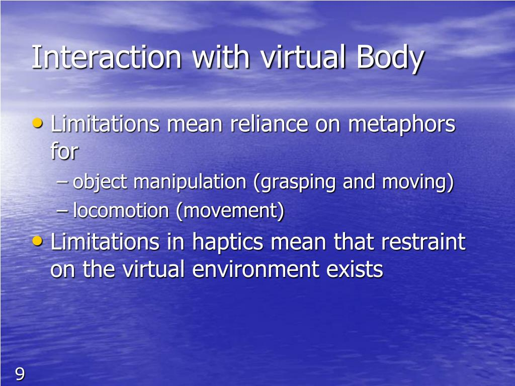 Interaction with virtual Body