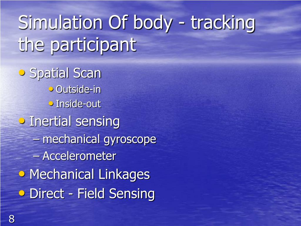 Simulation Of body - tracking the participant