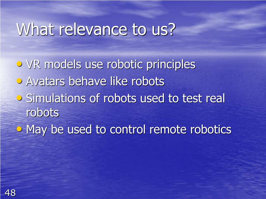 What relevance to us?