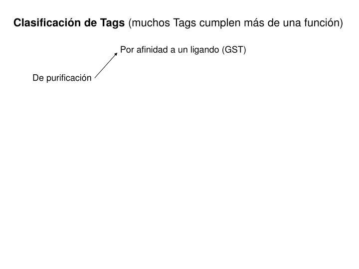 Clasificación de Tags