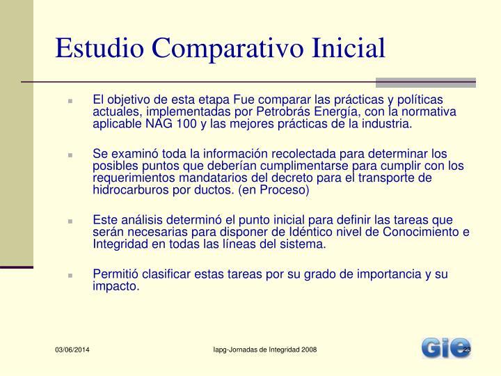 Estudio Comparativo Inicial