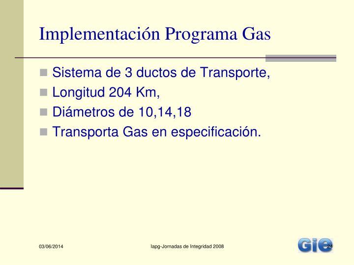 Implementación Programa Gas