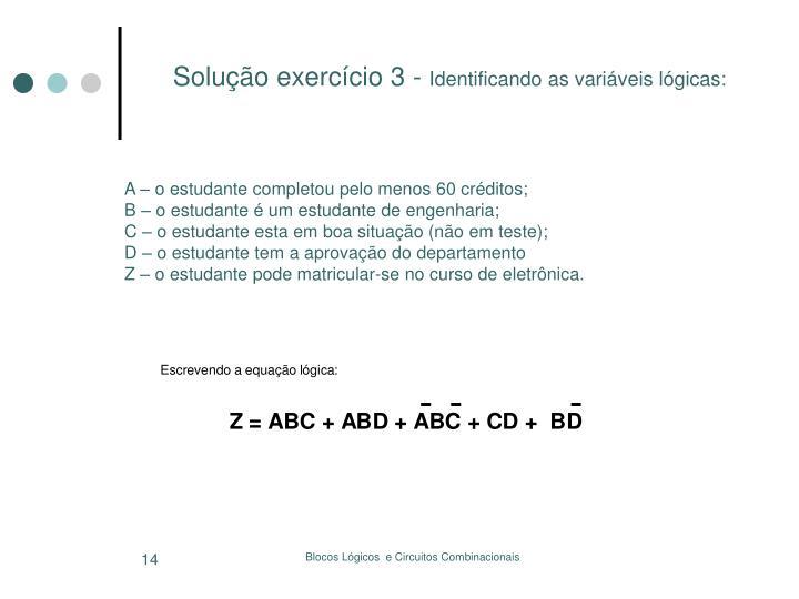 Solução exercício 3 -