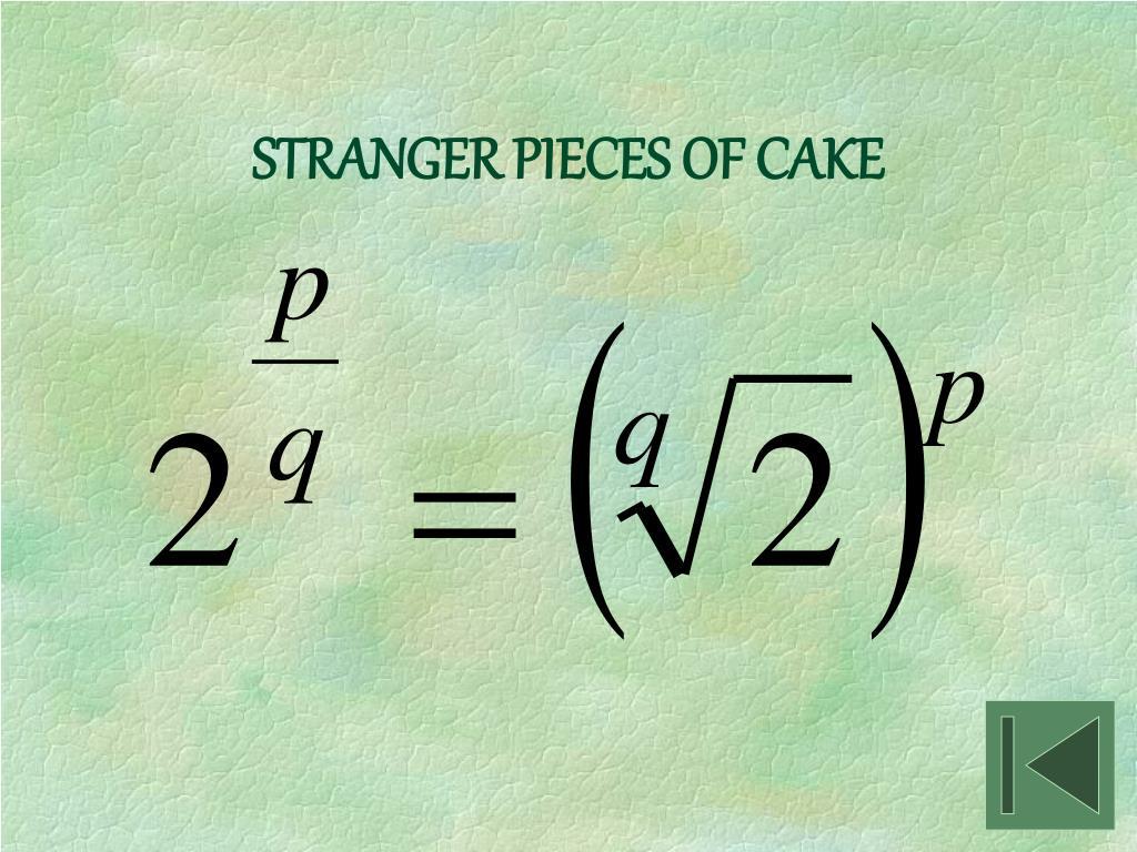 STRANGER PIECES OF CAKE