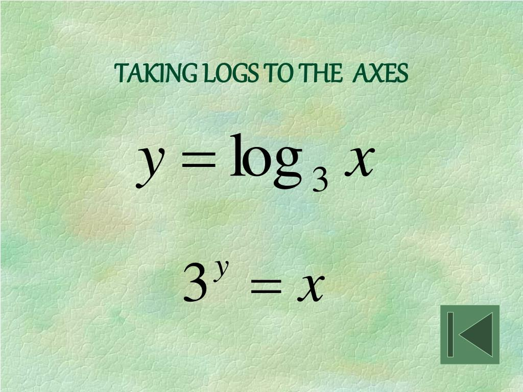 TAKING LOGS TO THE  AXES