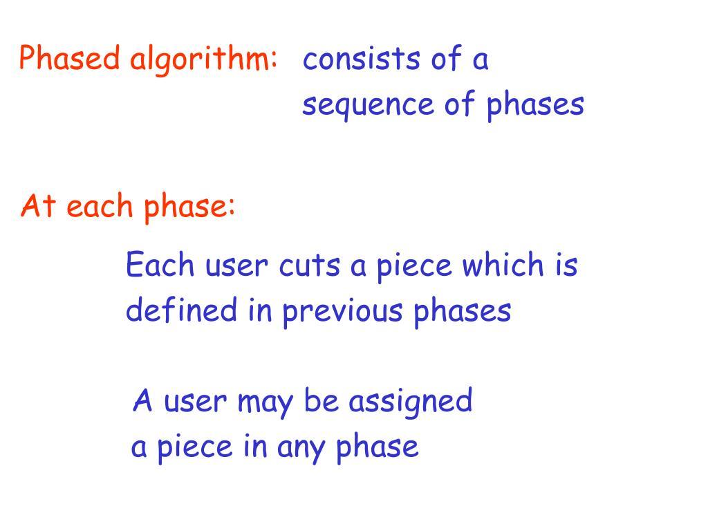 Phased algorithm: