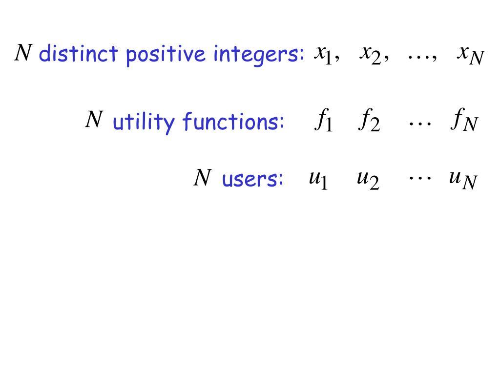 distinct positive integers: