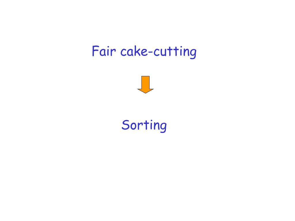Fair cake-cutting