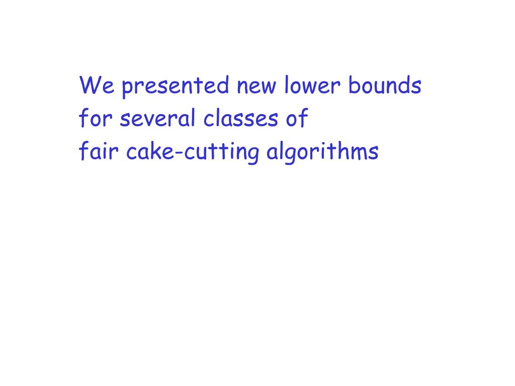 We presented new lower bounds