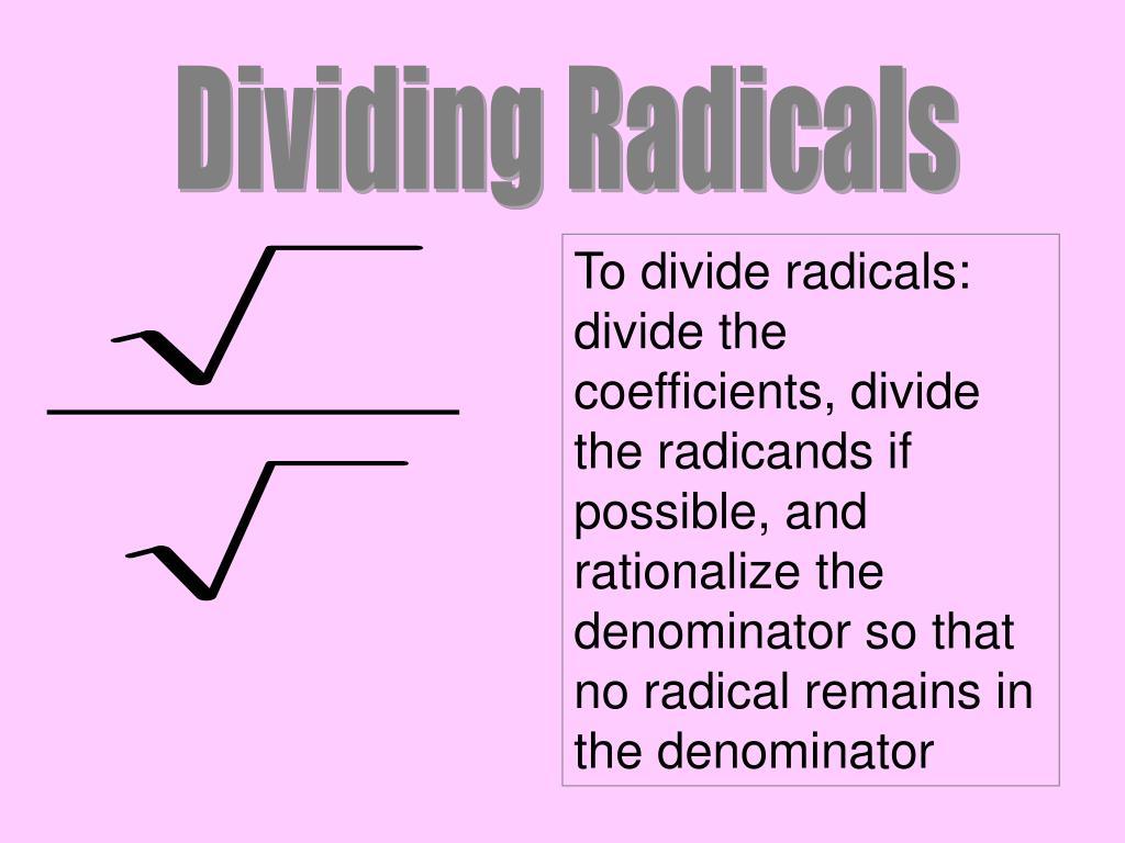 Dividing Radicals