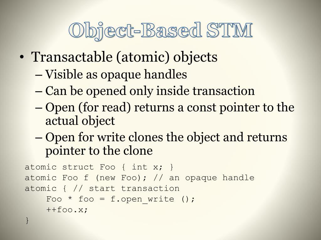 Object-Based STM