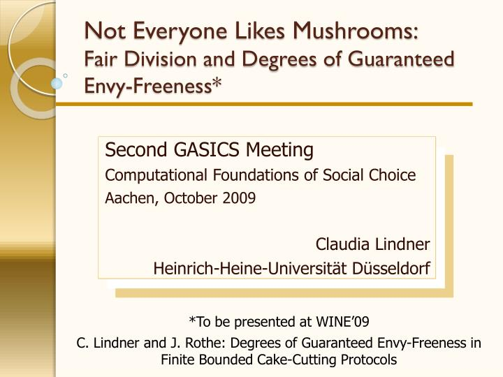 Not everyone likes mushrooms fair division and degrees of guaranteed envy freeness