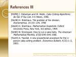 references iii