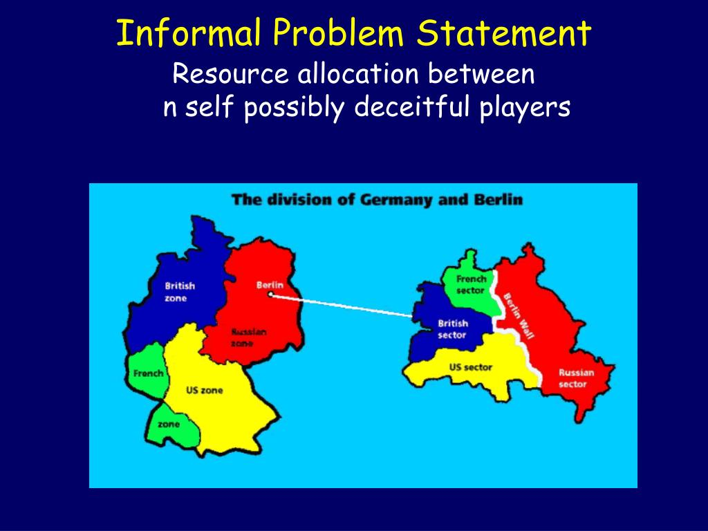 Informal Problem Statement