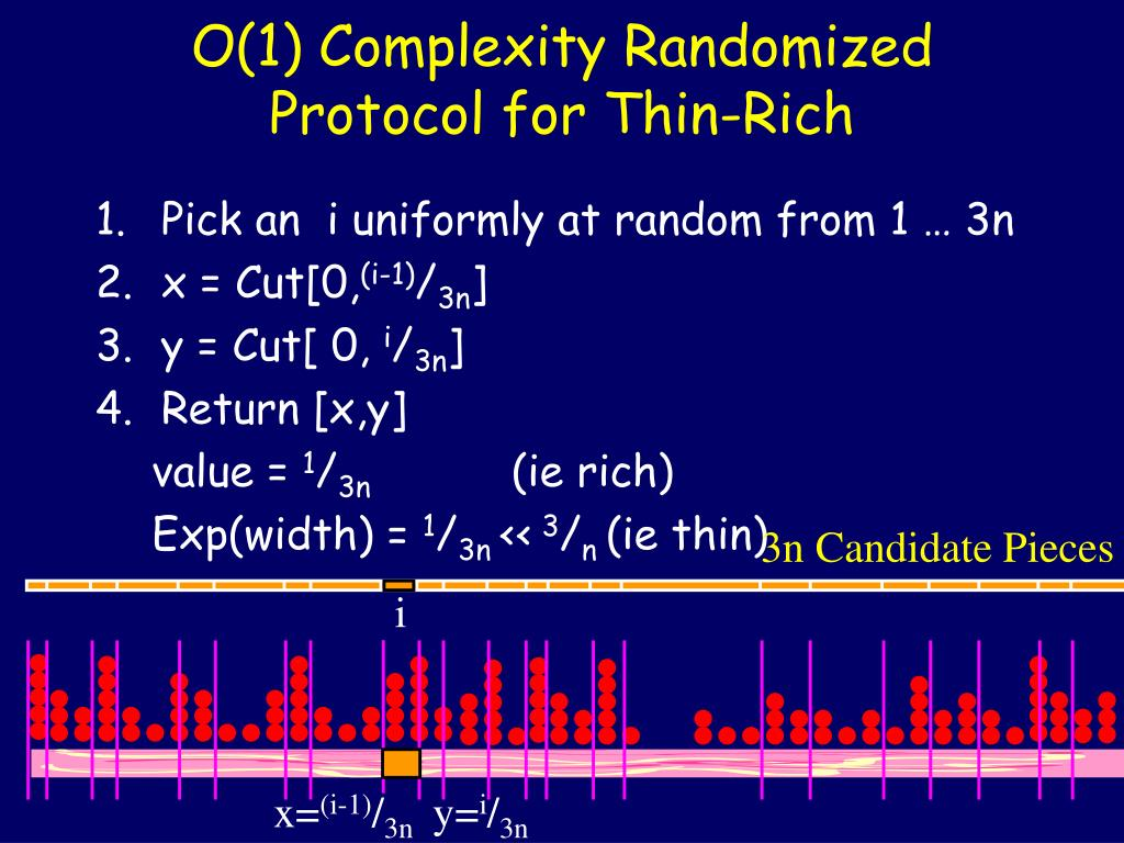 O(1) Complexity Randomized Protocol for Thin-Rich