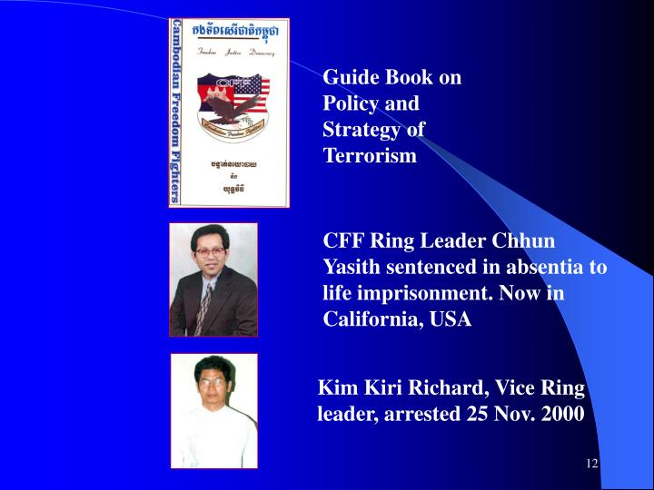 Guide Book on Policy and  Strategy of Terrorism