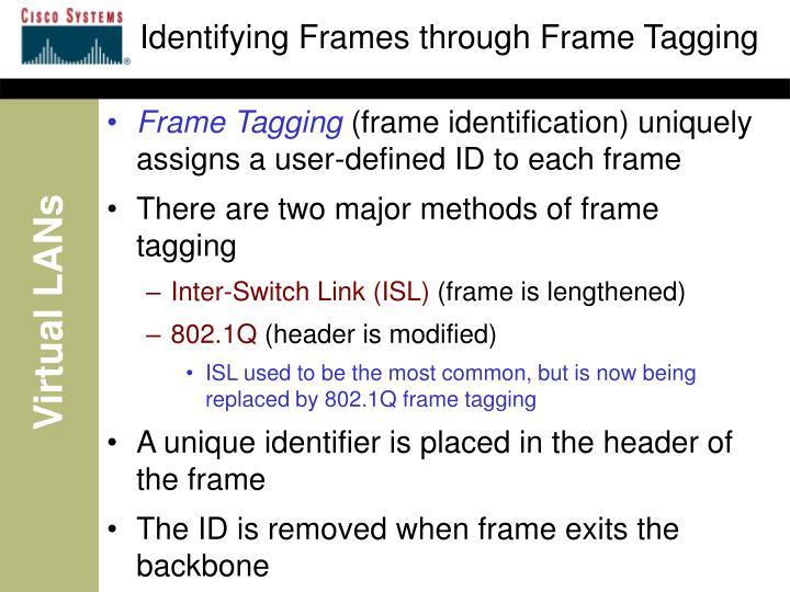 Identifying Frames through Frame Tagging